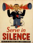 Poster, Serve in Silence, 1942-43. The Wolfsonian-FIU.