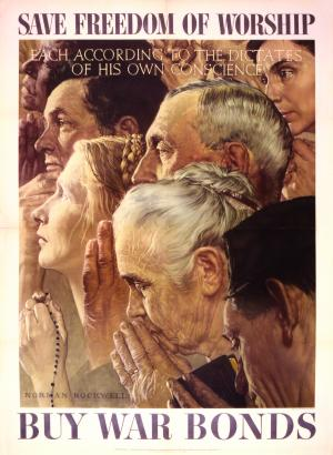 Freedom of Worship - Norman Rockwell